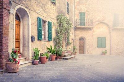 Фотообои Красивая улица Montisi, Тоскана