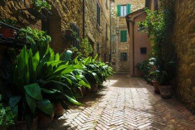Фотообои Красивые улочки средневековой тосканской деревни в Италии, Pienz