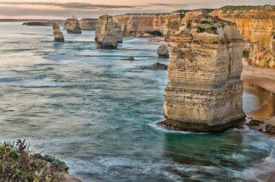 Фотообои Прекрасный вид на закат на побережье Двенадцати Апостолов по Великому океану