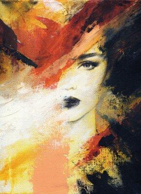 Фотообои красивая женщина. модная иллюстрация. акварельная живопись