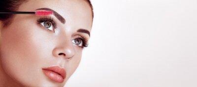 Фотообои Beautiful Woman with Extreme Long False Eyelashes. Eyelash Extensions. Makeup, Cosmetics. Beauty, Skincare