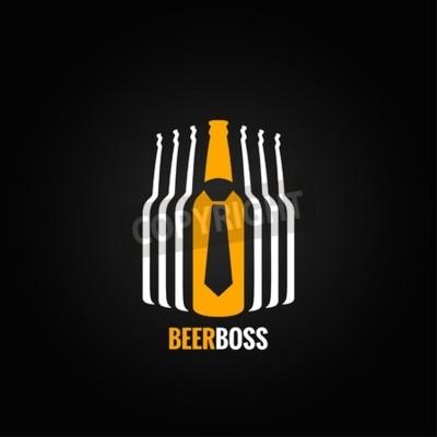 Фотообои бутылка пива концепция босс дизайн фона