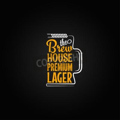 Фотообои кружка пива дизайн фона