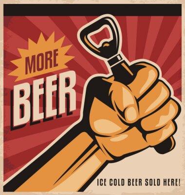 Фотообои Пиво ретро дизайн плаката с революции кулак