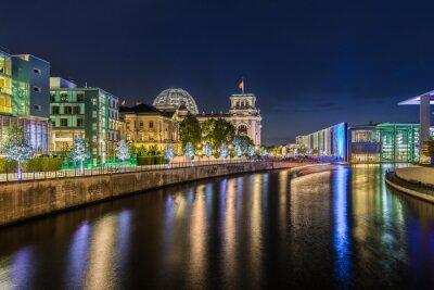 Фотообои Берлинер Regierungsviertel бай Nacht