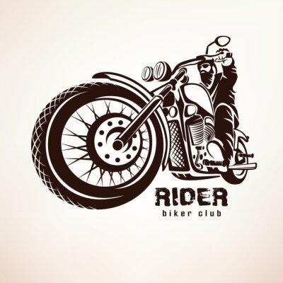 Фотообои байкер, мотоцикл гранж вектор силуэт