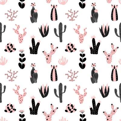Фотообои черно-розовый узор