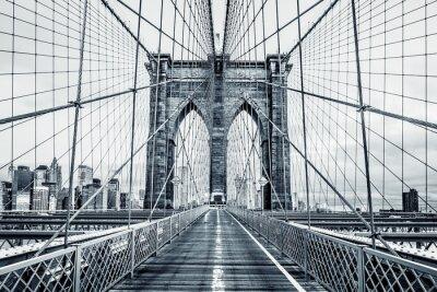 Фотообои Черно-белый Бруклинский мост