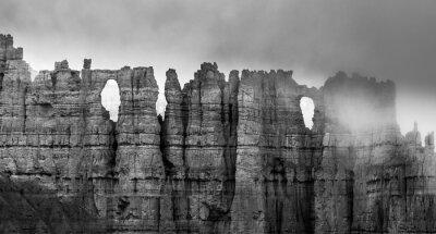 Фотообои Черный и белый Брайс-Каньон