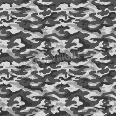 Фотообои Черно-белый камуфляж с гранж эффект фона. Векторные иллюстрации