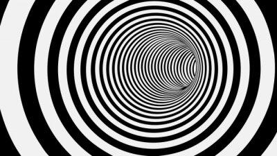 Фотообои Черно-белый круг Полосатый Аннотация тоннеля