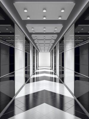 Фотообои Черно-белый коридор.