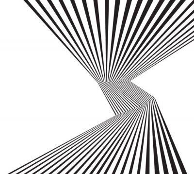 Фотообои черно-белая полоса mobious волны оптического абстрактный дизайн