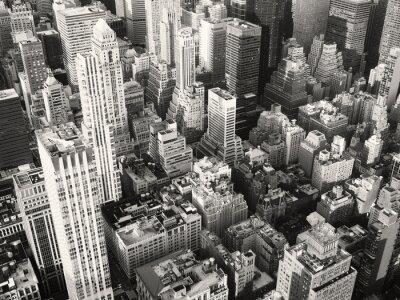 Фотообои Черно-белый вид центра города Нью-Йорк