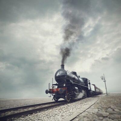 Фотообои черный поезд