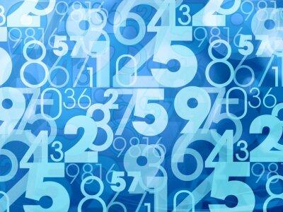 Фотообои синий абстрактные цифры