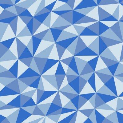 Фотообои Синяя мятая бумага с геометрическим рисунком