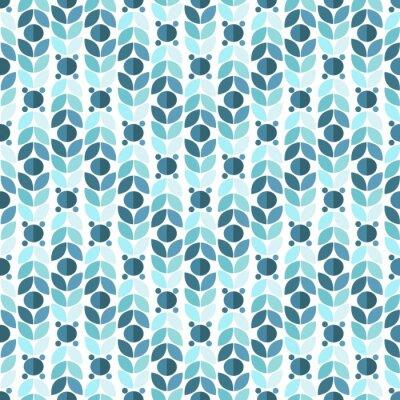 Фотообои Blue Geometric Retro Seamless Pattern