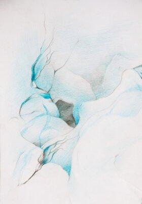 Фотообои голубые краски
