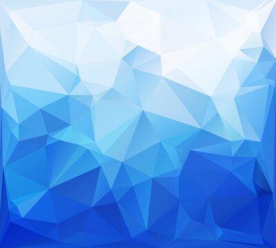 Фотообои Синий фон мозаики Многоугольная, творческие шаблоны дизайна