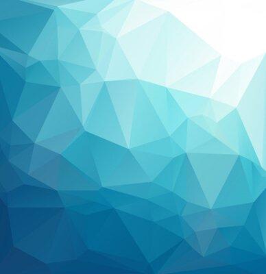 Фотообои Синий Многоугольная фон мозаики, творческие шаблоны дизайна