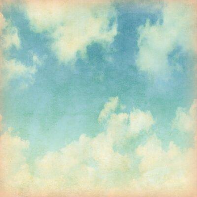 Фотообои Голубое небо с облаками в стиле гранж.