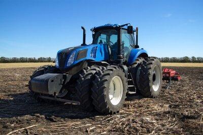 Фотообои Синий трактор с плугом