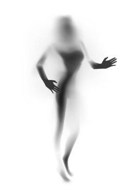 Фотообои Помутнение сексуальная женщина силуэт, руки. Векторная иллюстрация.
