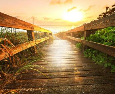 Фотообои Boardwalk на пляже