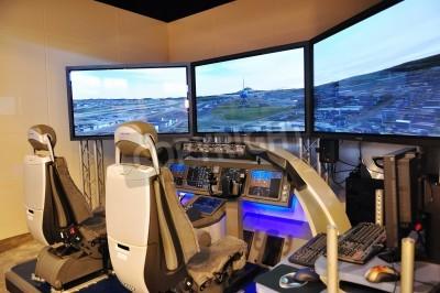 Фотообои Boeing flight simulator at Singapore Airshow February 03, 2010 in Singapore