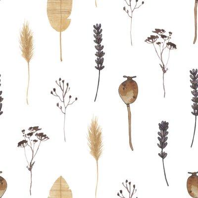 Фотообои boho watercolor digital paper nuetral clipart magic meadows seamless pattern clip art bohemian celestial spirit moth mystery dragonfly