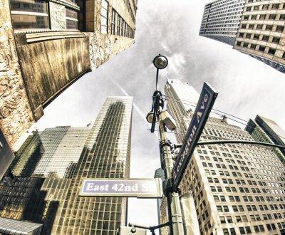 Фотообои Снизу вверх вид нью-йоркских небоскребов