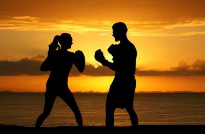 Фотообои Заниматься боксом