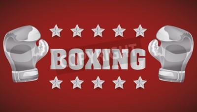 Фотообои Концепция бокса с дизайном иконок чемпионата, векторная иллюстрация 10 EPS графика.