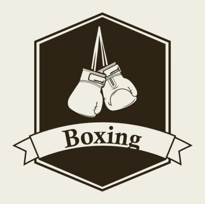 Фотообои бокс эмблема