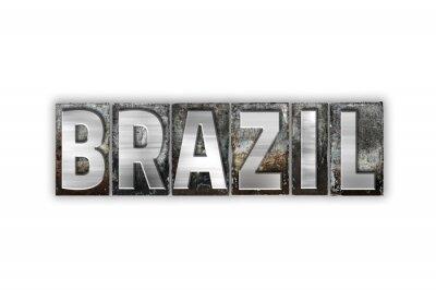 Фотообои Бразилия Концепция Изолированные Тип металла Letterpress