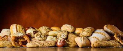 Фотообои хлеб и булочки кучи