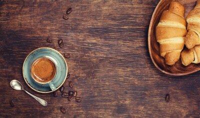 Фотообои Завтрак с кофе и круассаны