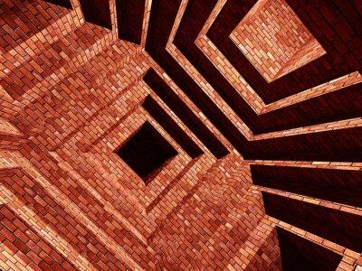 Фотообои кирпич Abstarct здание