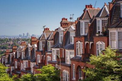 Фотообои Кирпичные дома на панорамной выстрел из Масуэлл Хилл, Лондон, Великобритания