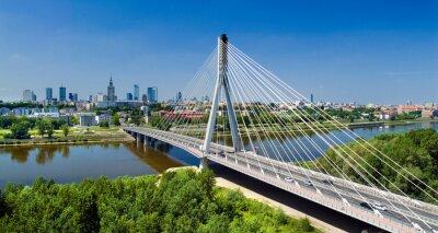Фотообои Мост в Варшаве через реку Висла
