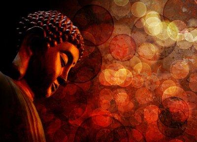 Фотообои Бронзовый Red Zen статуя Будды Meditating
