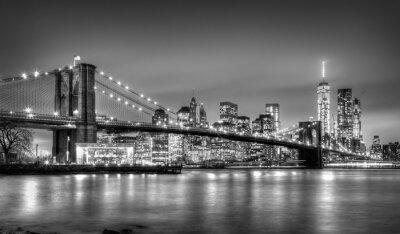 Фотообои Бруклинский мост в сумерках, Нью-Йорк.