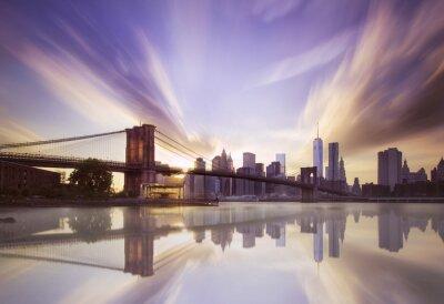 Фотообои Бруклинский мост закат