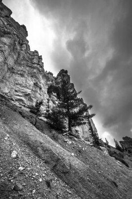 Фотообои Брайс-Каньон Черно-белая фотография