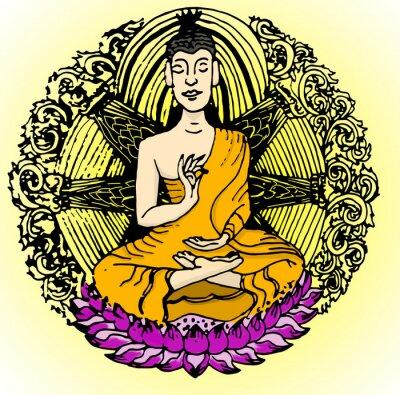 Фотообои цвет Будды.