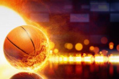 Фотообои Сжигание баскетбол