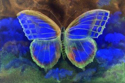 Фотообои Бабочка в мире фантазийной. Техника прикладывая дает эффект мягкой фокусировки благодаря измененному шероховатости поверхности бумаги.