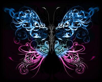 Фотообои бабочки сделаны из абстрактных форм процветать