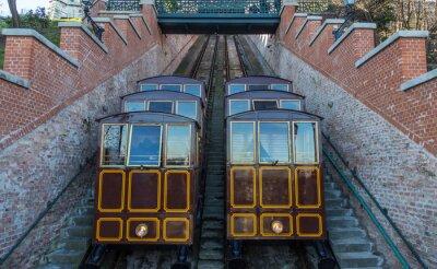 Фотообои Канатная дорога на город Касл-Хилл, Будапешт Венгрия.
